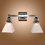 Model NS9 Bathroom Vanity Wall Light Double